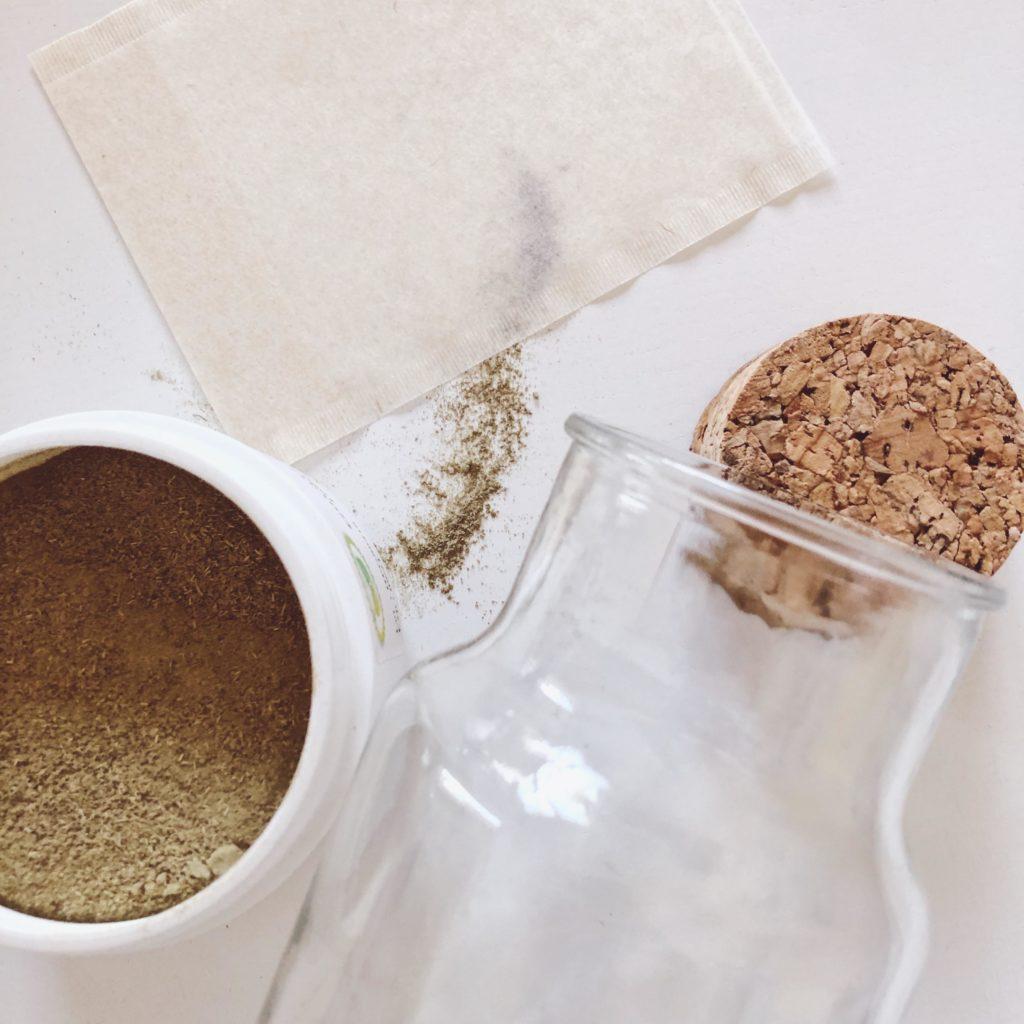lotion poudres de plantes