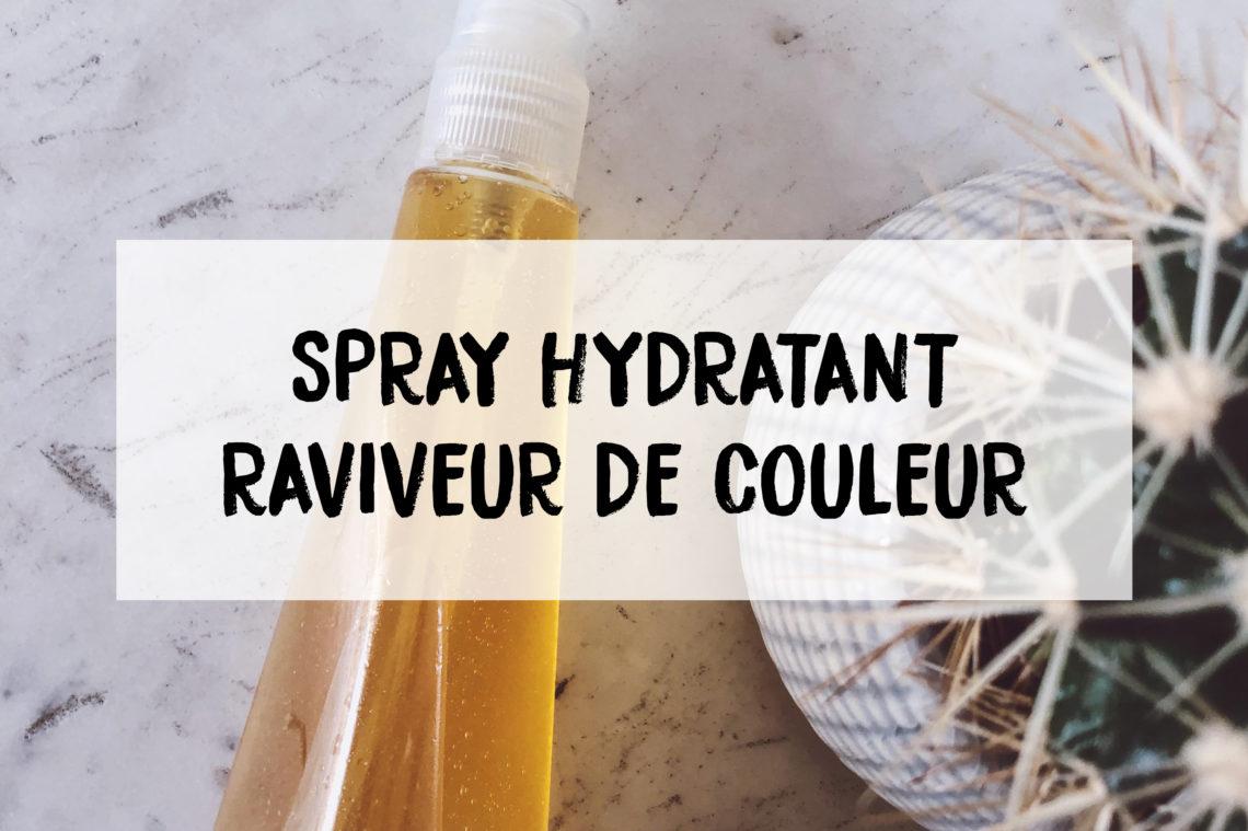 spray capillaire couleur